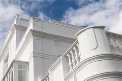 White building facade Stock Photography