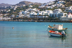 White building of Greek Island Stock Images
