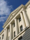 White Building III. Building front with white columns royalty free stock photography