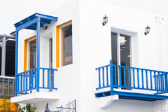 White Building Mediterranean Style. Royalty Free Stock Photo