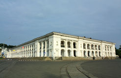 White building of the nineteenth century Royalty Free Stock Photo