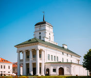 White Building Old City Hall In Minsk, Belarus Stock Photos