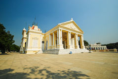 White building in the palace royalty free stock image