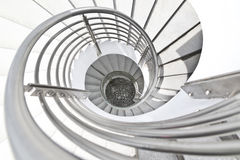 White Building Spiral Stairs Stock Image