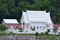 White building of Thai temple,Thailand. Royalty Free Stock Photos