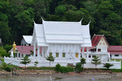 White building of Thai temple,Thailand. Stock Image