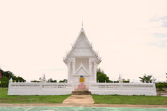 White building of Thai temple,Thailand. Stock Photography