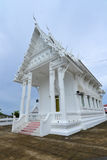 White building of Thai temple,Thailand. Stock Images