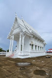 White building of Thai temple,Thailand. Royalty Free Stock Photography