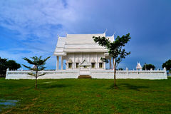 White building of Thai temple,Thailand. Stock Photos
