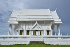 White building of Thai temple,Thailand. Royalty Free Stock Image
