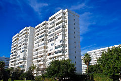 White Buildings. Some white tall apartment buildings Stock Photos