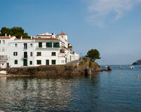 White buildings Cadaques Costa Brava royalty free stock image