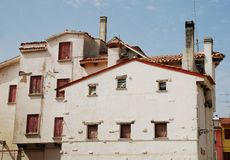 White Buildings in Caorle Stock Photos
