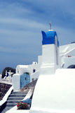 White buildings on Santorini Island. Royalty Free Stock Image