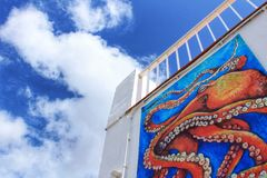 White buildings under blue sky in southern Spain. During summer Royalty Free Stock Photography