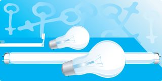 White bulbs and tubes Royalty Free Stock Photos