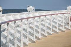White Bulkhead on a Cruise Ship Royalty Free Stock Photo