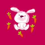 White bunny Royalty Free Stock Images