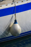 White buoy detail Stock Images