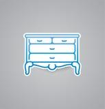 White bureau icon on grey background. Vector illustration bureau icon. eps10. Stock Image