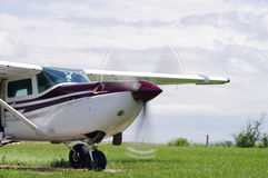Small propeller plane Royalty Free Stock Image