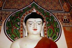 White burmese buddha. Royalty Free Stock Photo