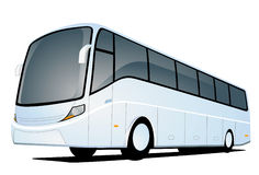 White Bus Royalty Free Stock Photography