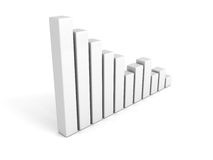 White business bar graph diagram. 3d render illustration Stock Photography