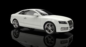 White Business Car Stock Images