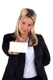 White Business Card Royalty Free Stock Images