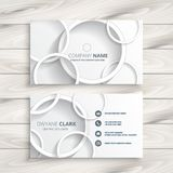 White business card with 3d circles design. Vector Stock Photos