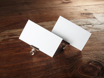White business cards Royalty Free Stock Images