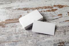 White business cards Royalty Free Stock Photos