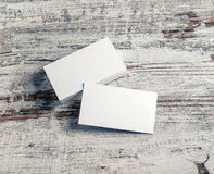White business cards Stock Images