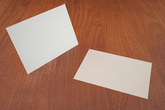 White business cards empty presentation template Stock Photos