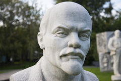 White bust of Lenin Stock Photos