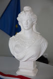 White bust of Marianne, symbol of France and French Republic. White stone bust of Marianne, symbol of France and the French Republic Royalty Free Stock Image