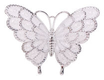 White butterfly decoration Royalty Free Stock Photos