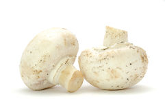 White Button Mushrooms Stock Photography