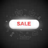 White button with red Sale text Royalty Free Stock Photo