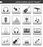 White button set 01. You can find others icon sets in my portfolio vector illustration