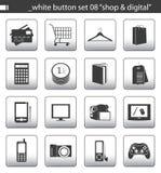 White button set 08 royalty free illustration
