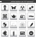 White button set 10. You can find others icon sets in my portfolio stock illustration
