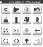 White button set 12 Royalty Free Stock Photos