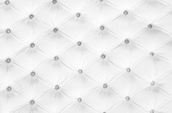 White buttoned leather patern. White buttoned leather pattern - Top view - Horizontal image Royalty Free Stock Image