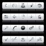 White buttons Royalty Free Stock Image
