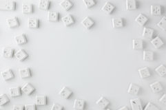 White buttons of keyboard. Close-up photography Royalty Free Stock Images