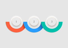 White buttons - number options banners and infographics design. Vector EPS10 Royalty Free Stock Image