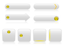 White buttons for web Stock Images